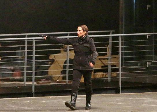 Noomi On Set In Prague Filming 'UNLOCKED'